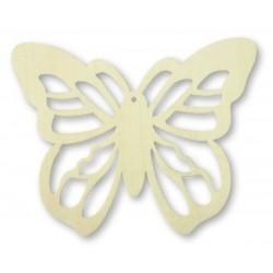 4 papillons copeau de bois  11 x 9 cm loisirs créatifs
