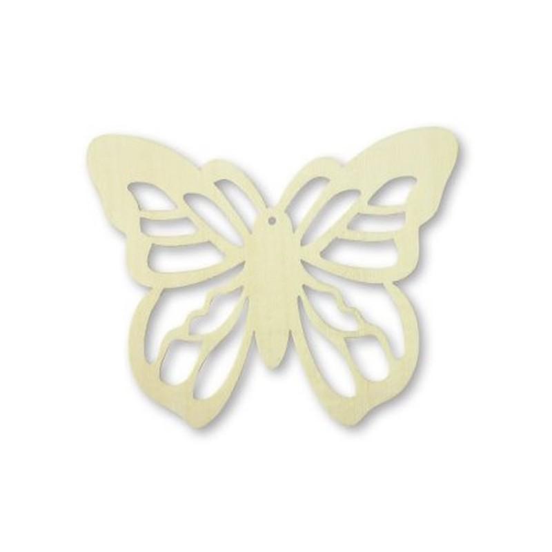 4 papillon copeau de bois  11 x 9 cm loisirs créatifs