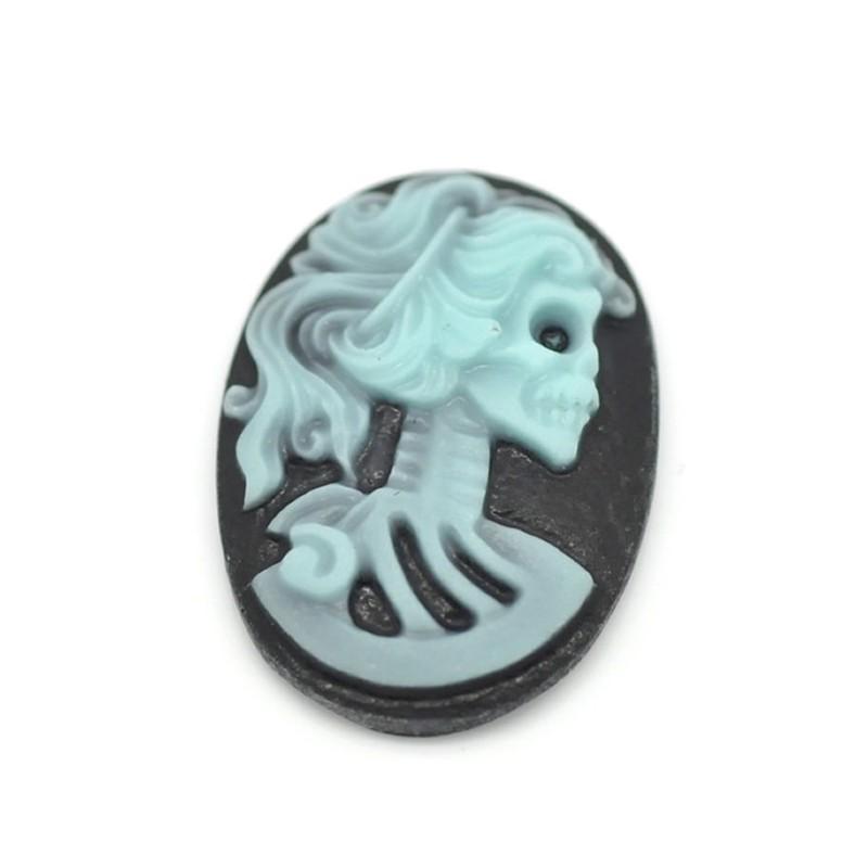 Camée squelette femme halloween