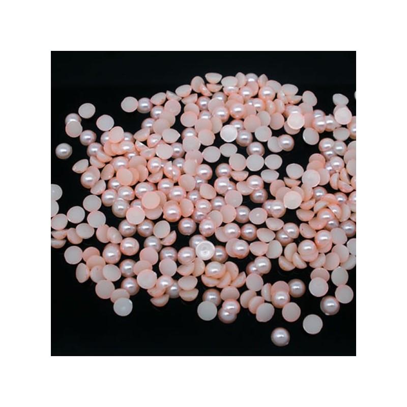 100 demi-perles embellissement 4 rose vrac
