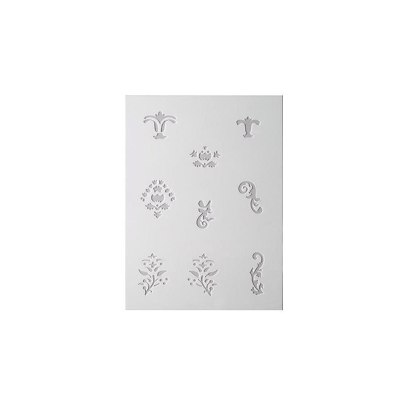 Pochoir 9 d cors ornements adapt la poudre efcolor for Pochoir pour miroir