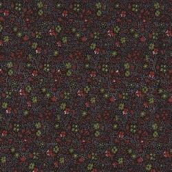 5 Coupons patchwork coordonnés noir/rouge/vert coton 29,5 x 70 cm