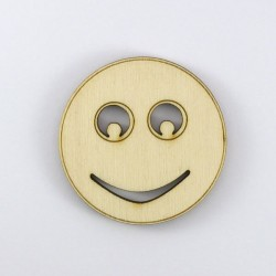 Smiley neutre en bois