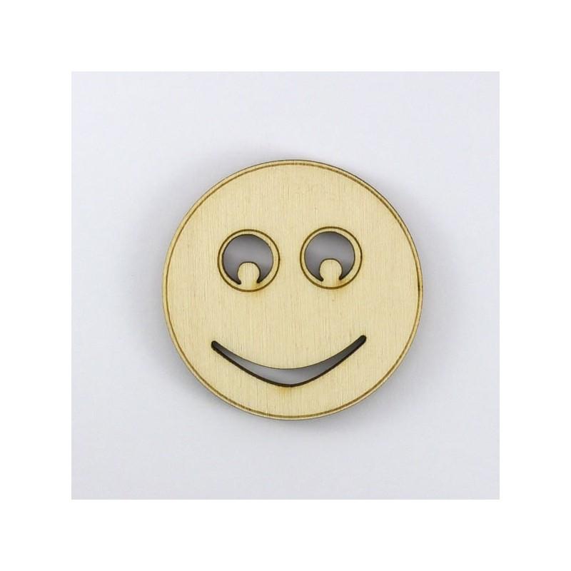Smiley neutre en bois