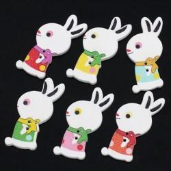 5 boutons lapins mélangés