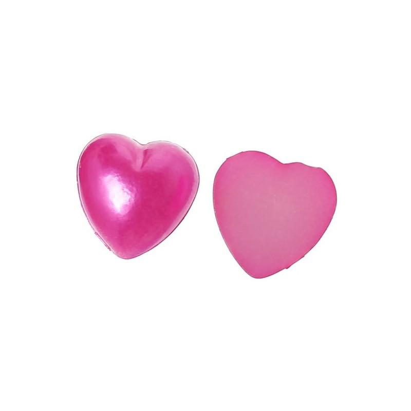 5 coeurs applique d'embellissement rose