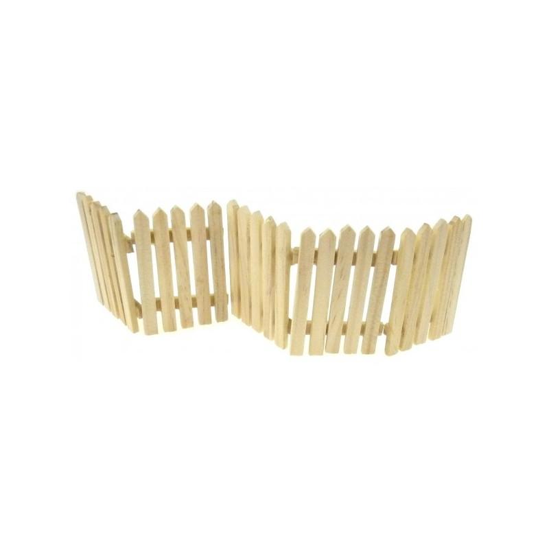 5 barri res en bois miniature pour d cor poup e maquettes no l loisirs cr - Peindre une barriere en bois ...