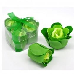 Fleur verte délicates pétales