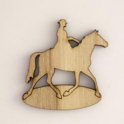 Cow-boy à cheval et cartouche
