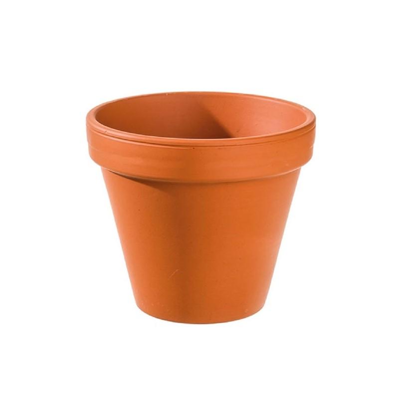 3 Pots de fleur en argile diam 13,3 cm - haut 12 cm