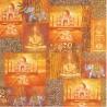 Serviettes décor lettre romantique, rose, timbre