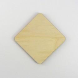 Losange coins ronds en bois