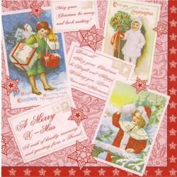 Serviettes Joyeux Noël bonne année multiligue