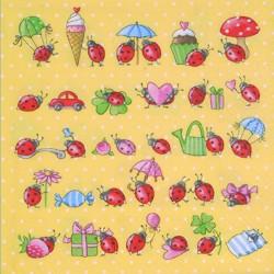 Serviettes oiseaux fleurs