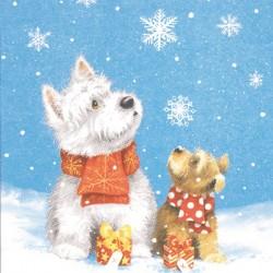 Serviette Joyeux Noël bonne année multiligue