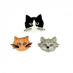 3 boutons chats série 1