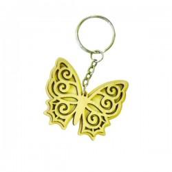Papillon porte-clef en bois à décorer modele 2