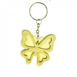Papillon porte-clef en bois à décorer modele 4
