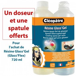 Résine Glass'Gel (Flex) Cléopatre 720 ml