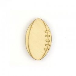 Ballon de rugby en bois Grande taille