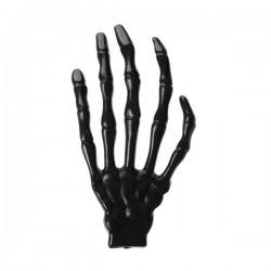 Main squelette Halloween noire