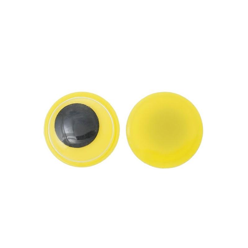 yeux jaunes pupille mobile rondes coller loisirs cr atifs ou scrap. Black Bedroom Furniture Sets. Home Design Ideas