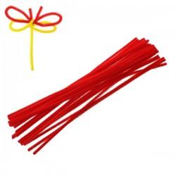 15 Fils chenille rouge