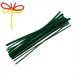 15 Fils chenille vert foncé