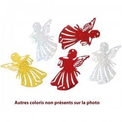 10 grands pendentifs anges papier métal