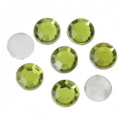 50 strass vert 6 mm à facettes