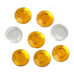 50 strass jaune 6 mm à facettes