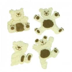 4 oursons feutrine