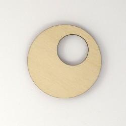 Cercle bijou évidé en bois