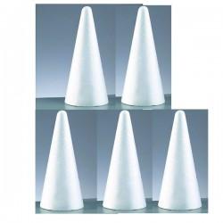 5 Cones en polystyrène