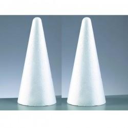 2 grands Cones en polystyrène