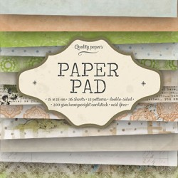 Bloc  paper pad 36 pages 6x6 double face  studio light gris, rose, vert, marron...)