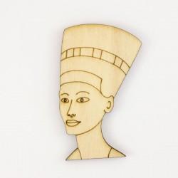 Nefertiti, reine égyptienne en bois