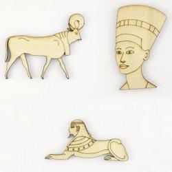 Pack de 3 personnages de la mythologie egyptienne