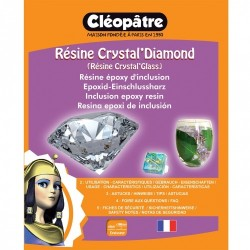 Résine Crystal'Diamond 720 ml Cléopatre, résine d'inclusion ultrabrillante