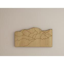 Le Mont Blanc des saisies décor bois à peindre ou pas.