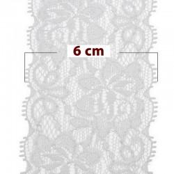 Ruban dentelle blanche 50 mm type dentelle de calais