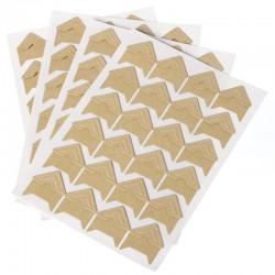 Coins photo adhésifs papier brun clair pour photo en planche de 24 pièces. Pour scrapbooking et loisir créatif.