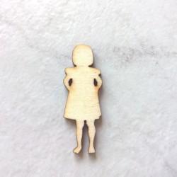 Petite fille silhouette bois n°1 à décorer ou pas pour loisirs créatifs, déco, scrapbooking