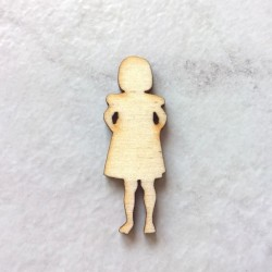 Petite fille silhouette bois n°3 loisir créatif, scrap, école, décor de table, anniversaire, baptême., plaque décorative