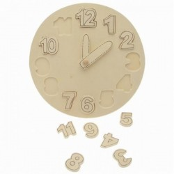 Horloge didactique en bois à décorer ou pas