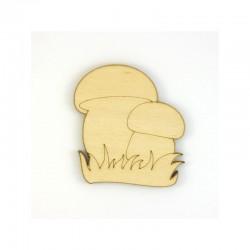 Champignons cepes en bois pour loisirs créatifs et scrapbooking taille au choix