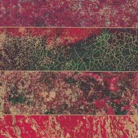 Tissu coton Noël  4 tons  55 x 50 cm