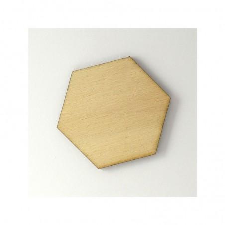 Hexagone en bois grande taille