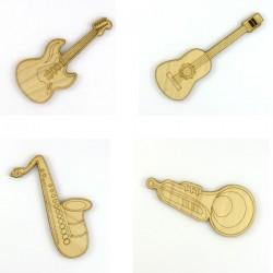 Pack guitare sèche, guitare électrique, trompette, saxophone