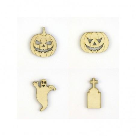 Pack Halloween N°1, citrouilles, fantôme, pierre tombale